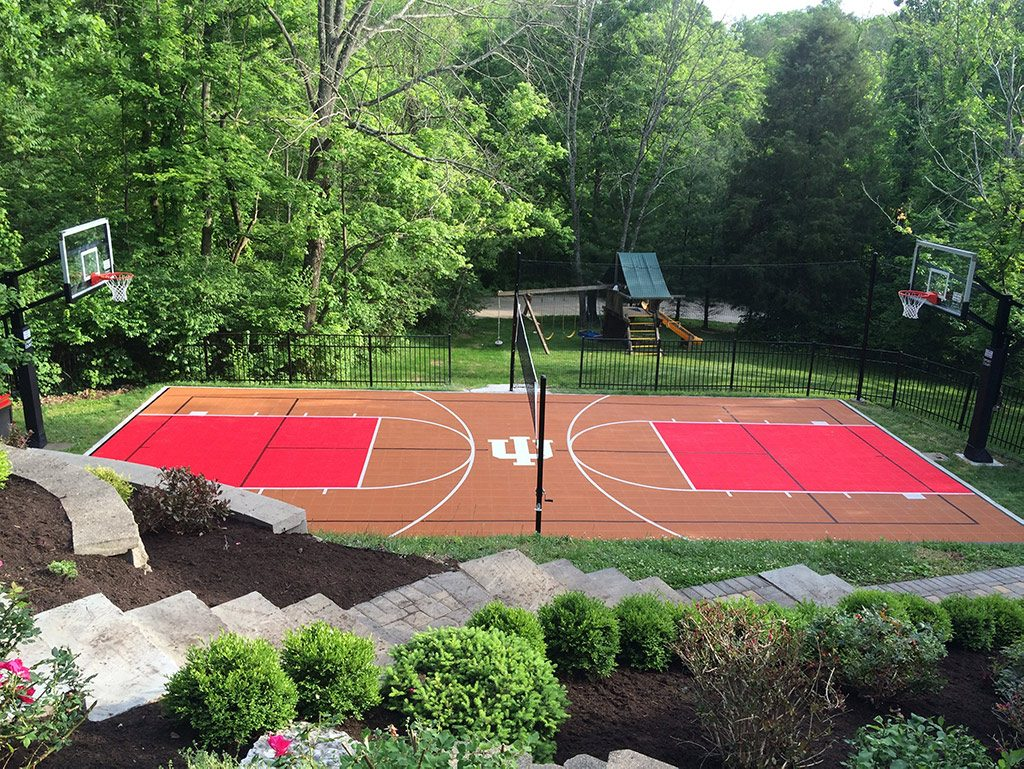 Sport-Court-UK-Residential-Courts-MUGA-Basketball-Custom-Team-Logo-Volleyball-Badminton